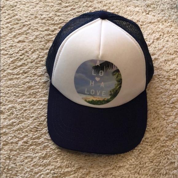 fc3fb979470892 Billabong Accessories | Trucker Hat Aloha Love Navy White | Poshmark